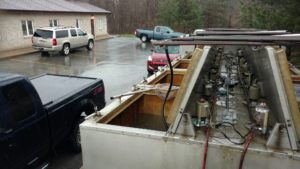 Getting ready to offload some fish for customers at one of the many SWCD pick ups we do each year.